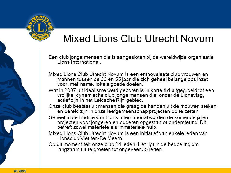 Mixed Lions Club Utrecht Novum
