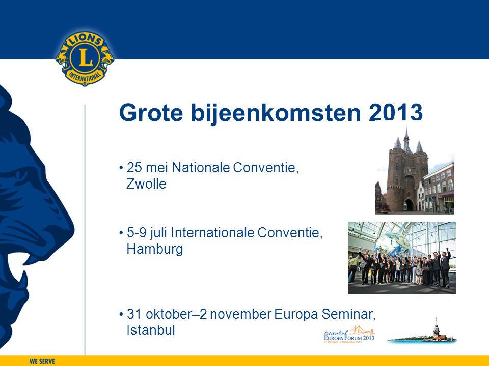 Grote bijeenkomsten 2013 25 mei Nationale Conventie, Zwolle