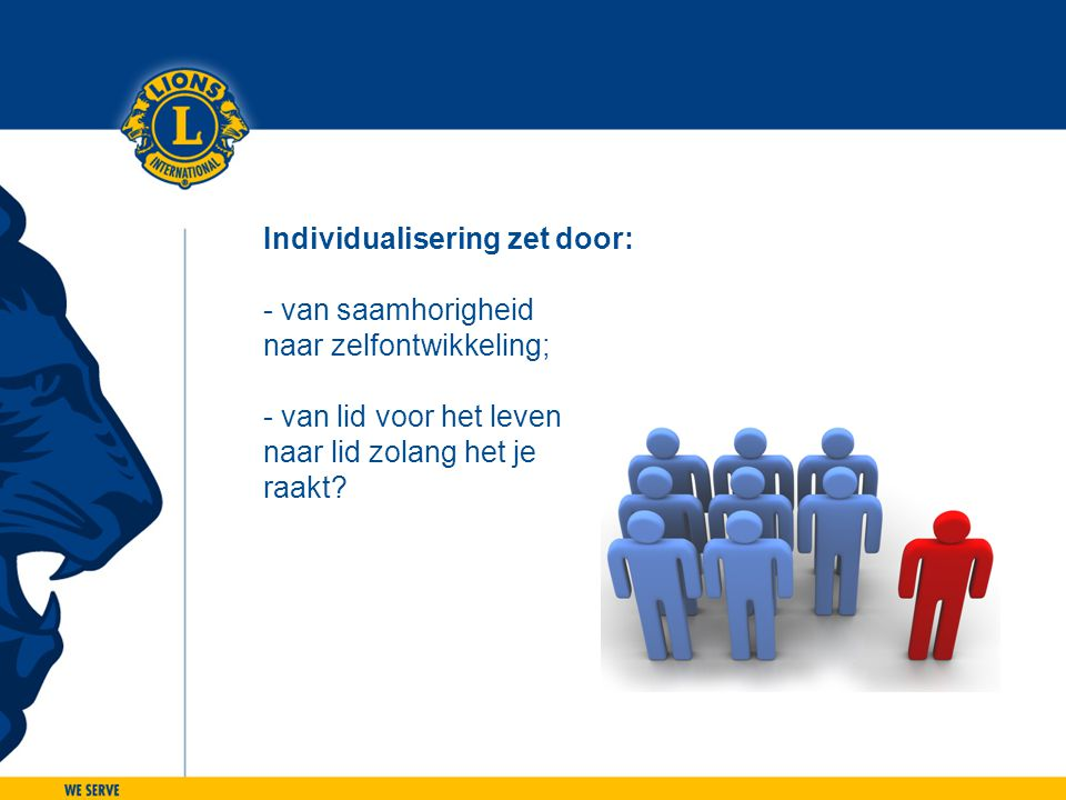 Individualisering zet door: