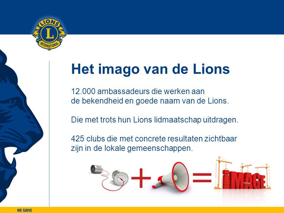 Het imago van de Lions 12.000 ambassadeurs die werken aan