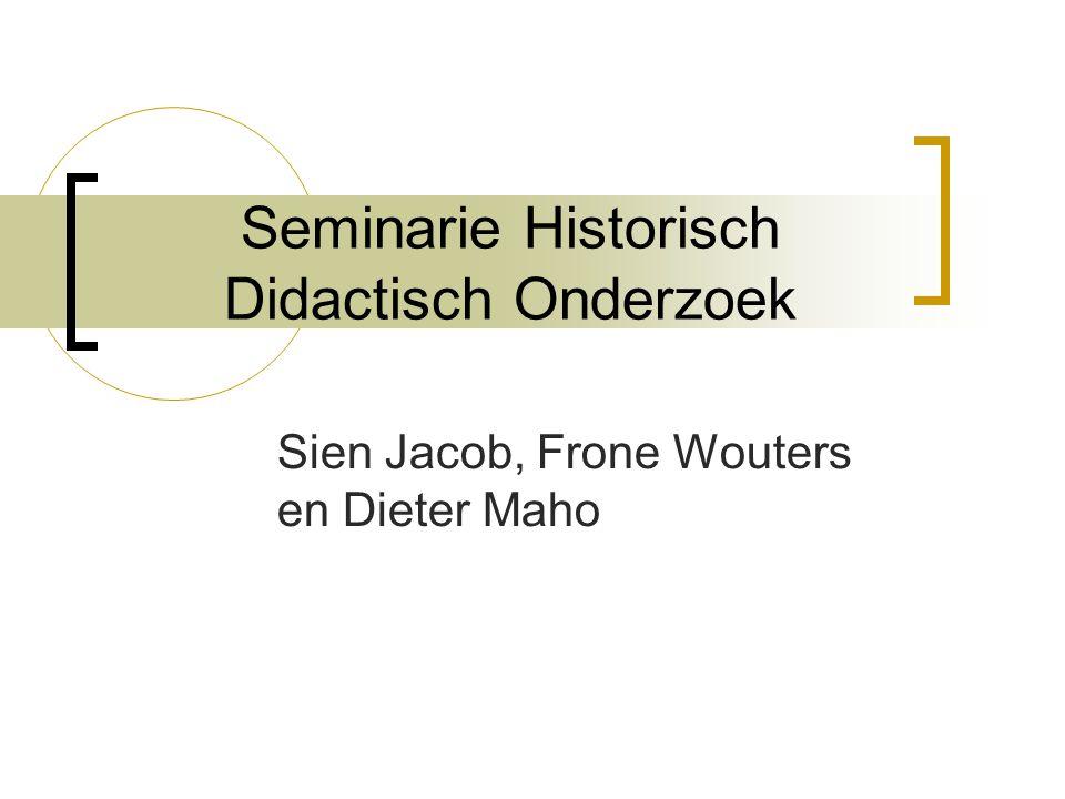Seminarie Historisch Didactisch Onderzoek