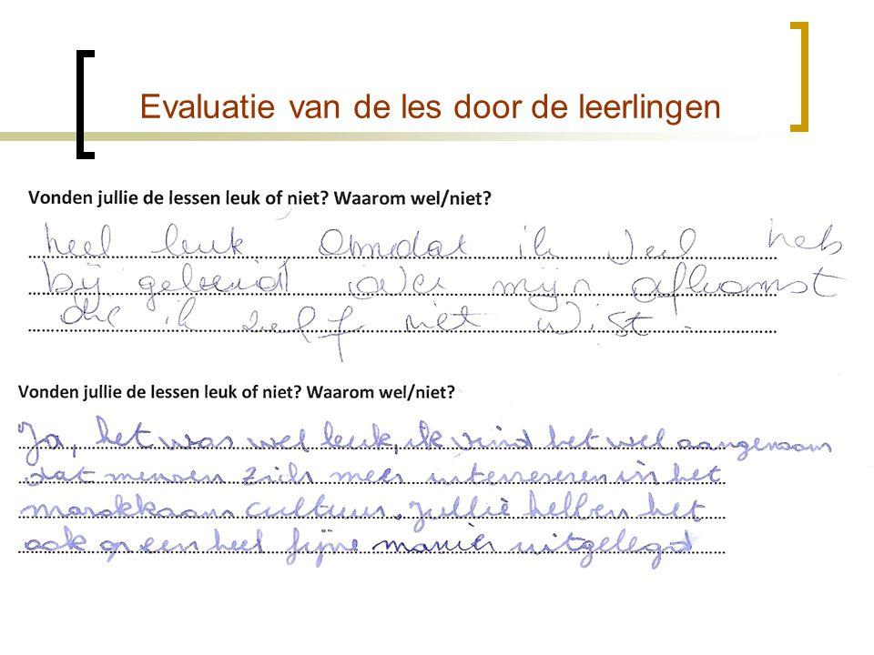 Evaluatie van de les door de leerlingen