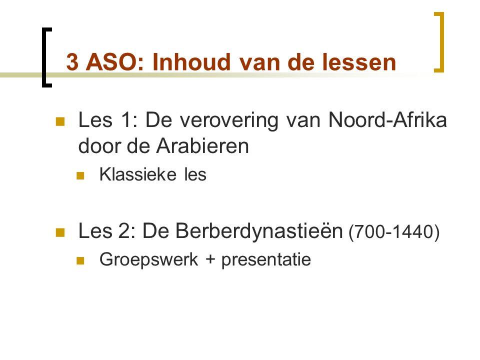3 ASO: Inhoud van de lessen