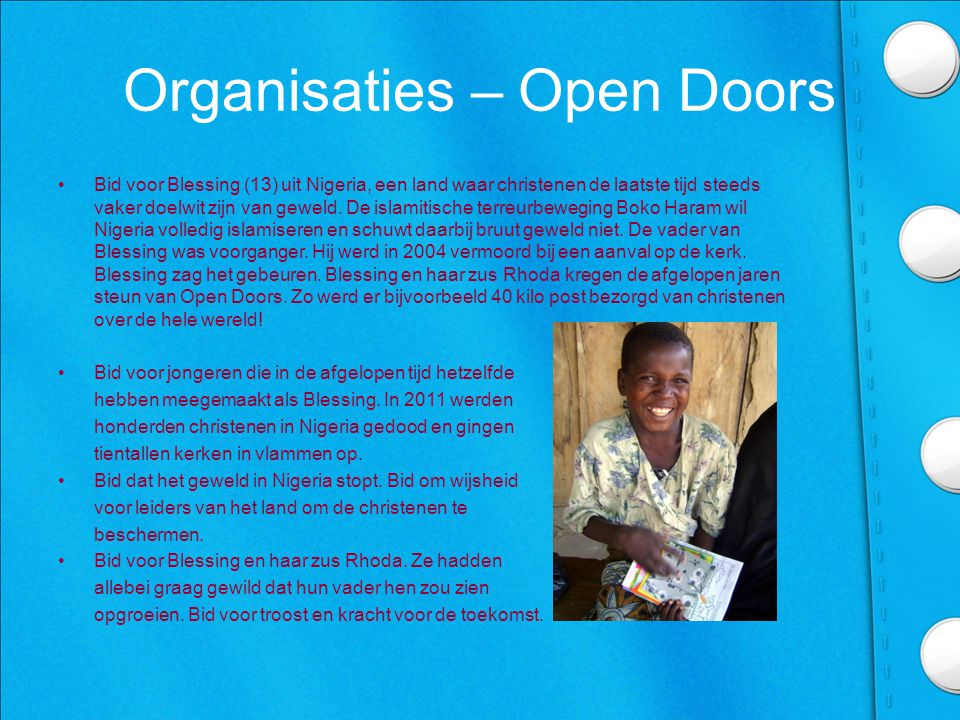 Organisaties – Open Doors