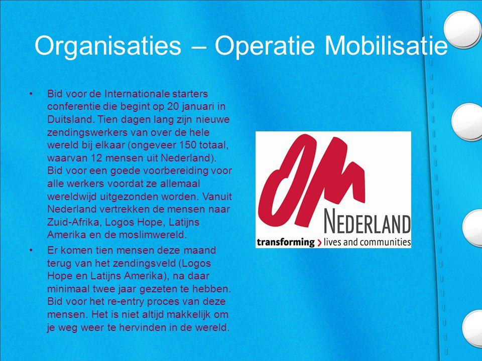 Organisaties – Operatie Mobilisatie