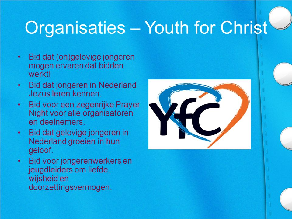 Organisaties – Youth for Christ