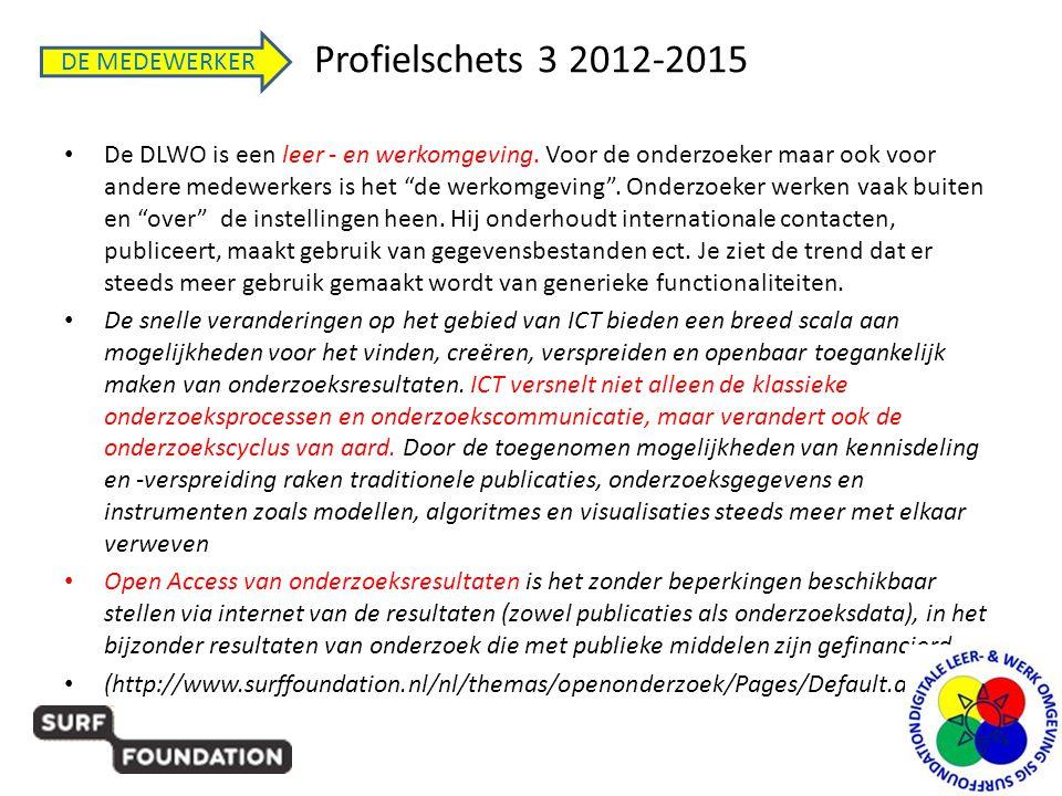 Profielschets 3 2012-2015 DE MEDEWERKER