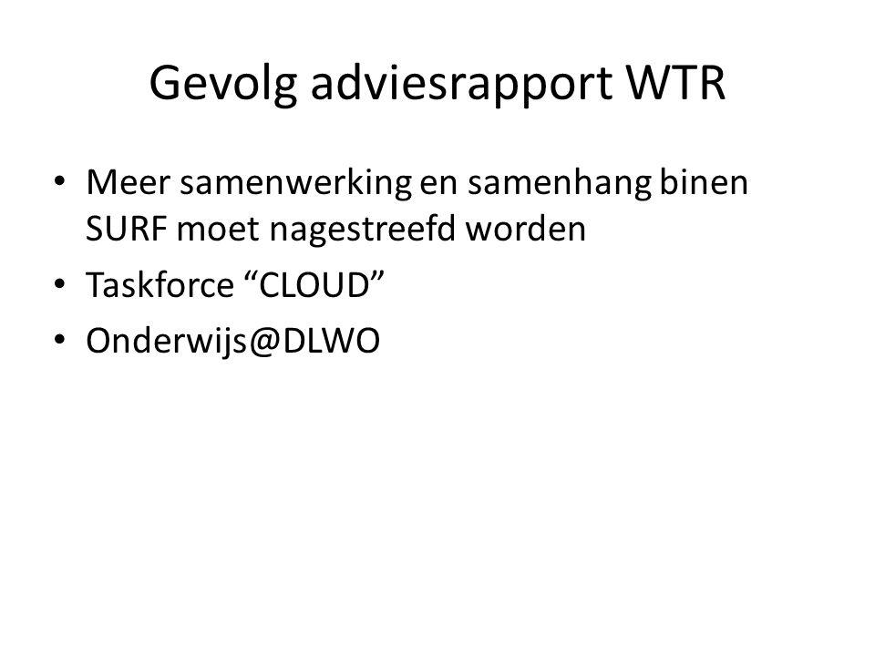 Gevolg adviesrapport WTR