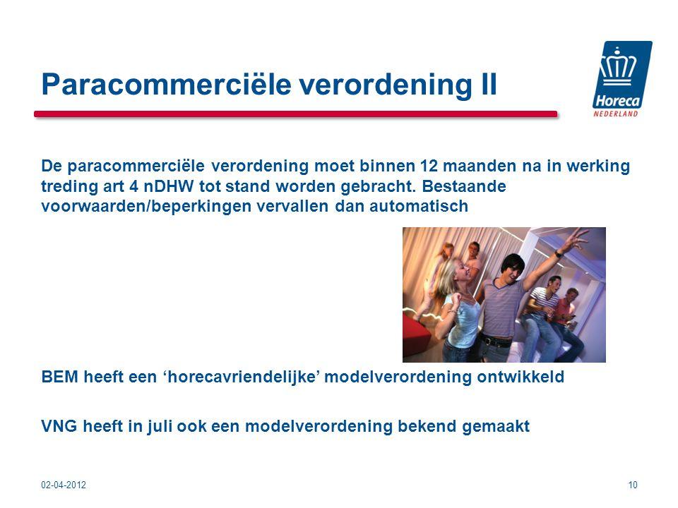 Paracommerciële verordening II