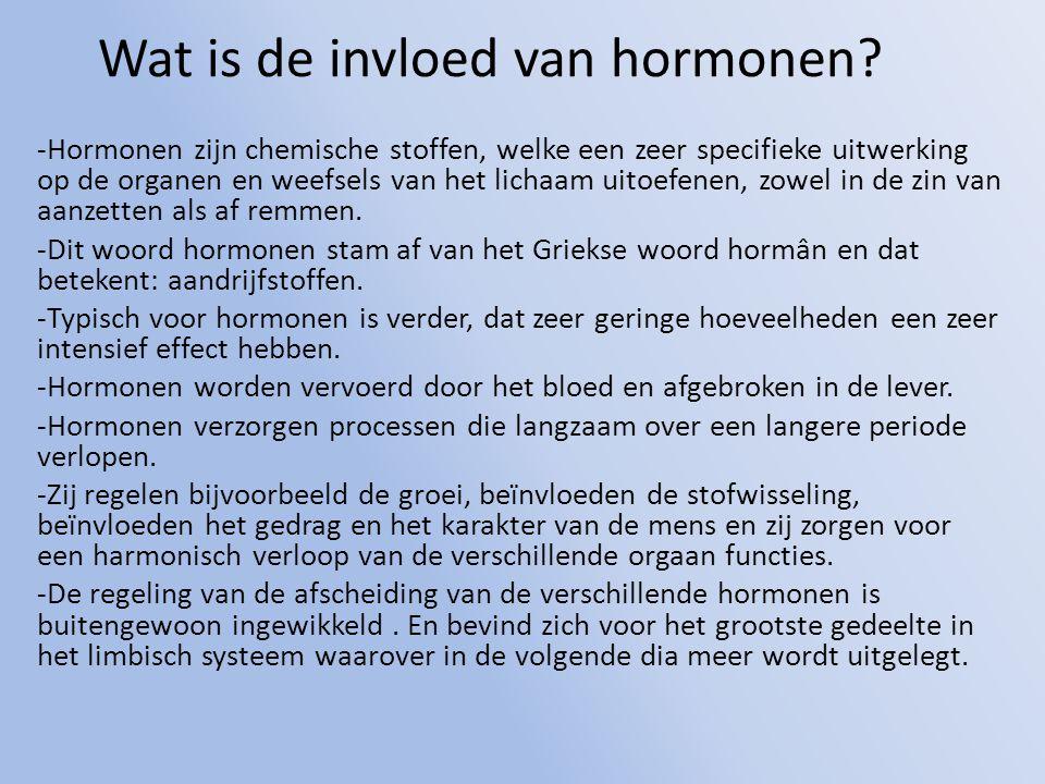 Wat is de invloed van hormonen