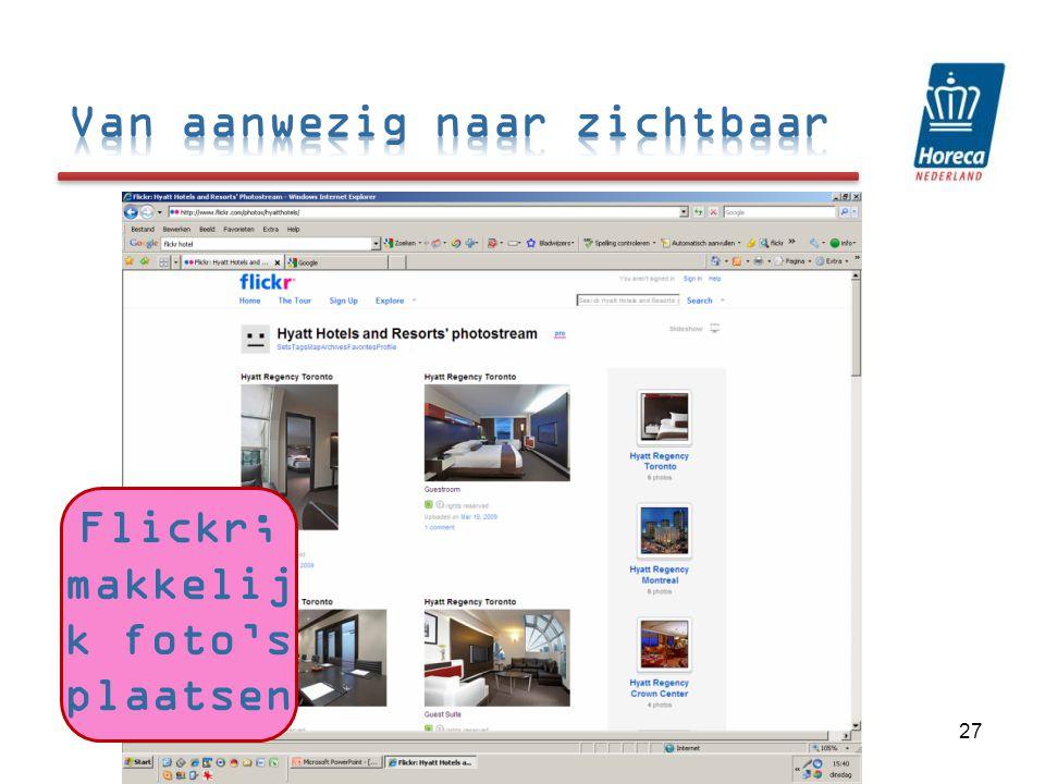 Flickr; makkelijk foto's plaatsen
