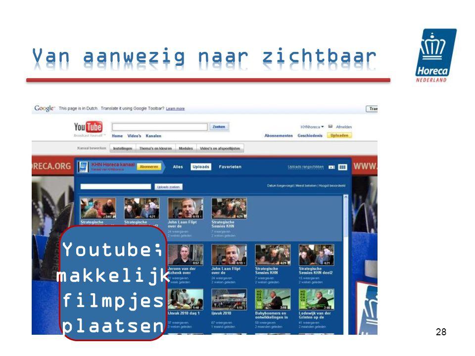 Youtube; makkelijk filmpjes plaatsen