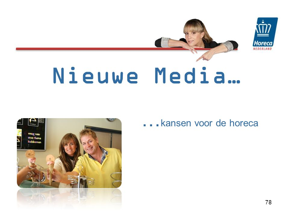 Nieuwe Media… …kansen voor de horeca