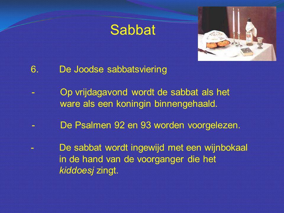 Sabbat 6. De Joodse sabbatsviering