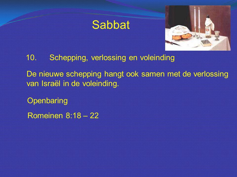 Sabbat 10. Schepping, verlossing en voleinding