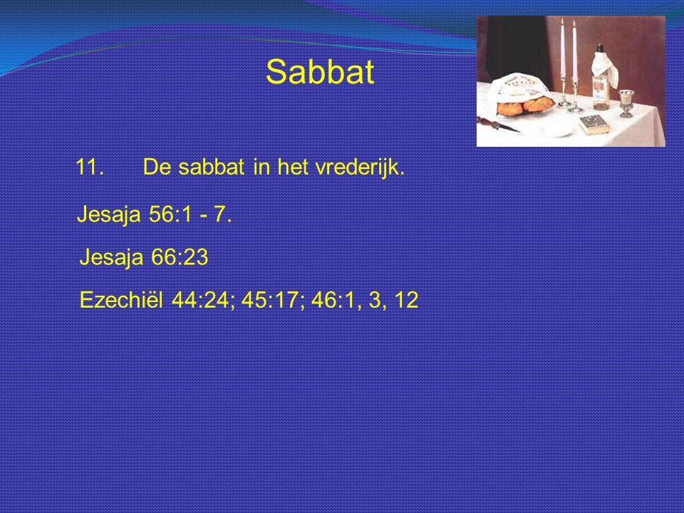 Sabbat 11. De sabbat in het vrederijk. Jesaja 56:1 - 7. Jesaja 66:23