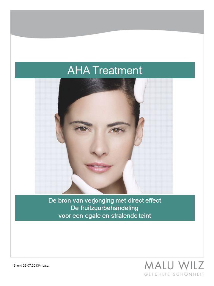 AHA Treatment De bron van verjonging met direct effect