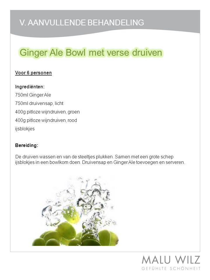 Ginger Ale Bowl met verse druiven
