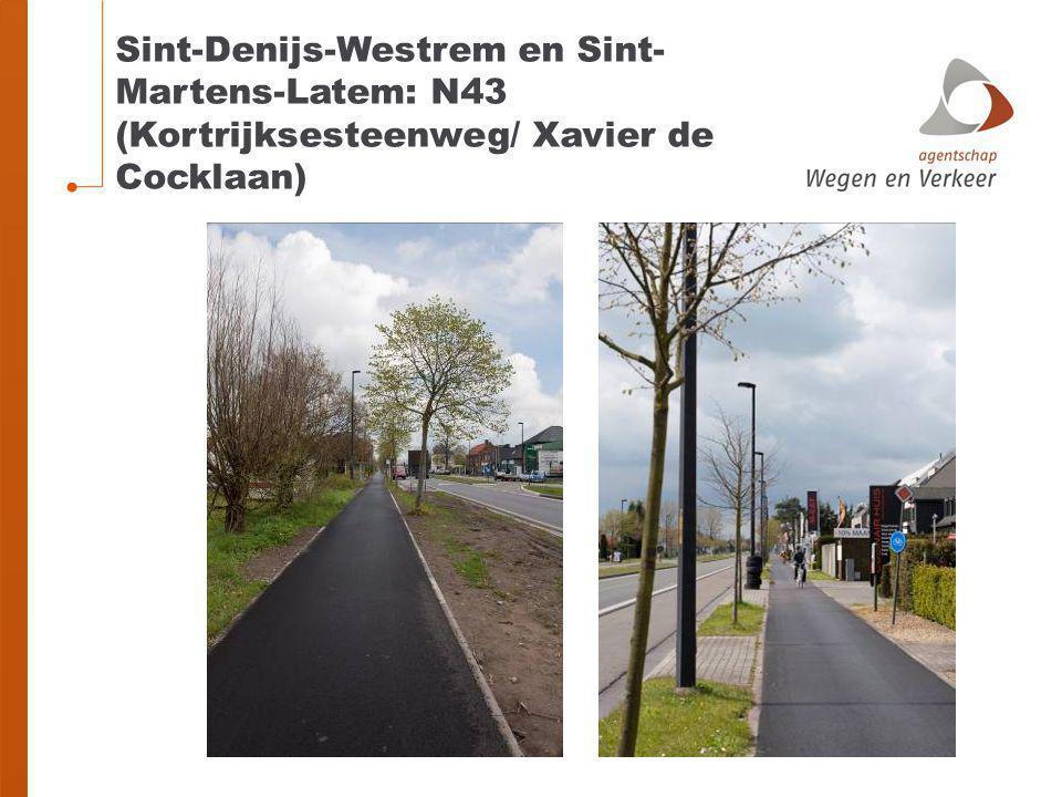 Sint-Denijs-Westrem en Sint-Martens-Latem: N43 (Kortrijksesteenweg/ Xavier de Cocklaan)