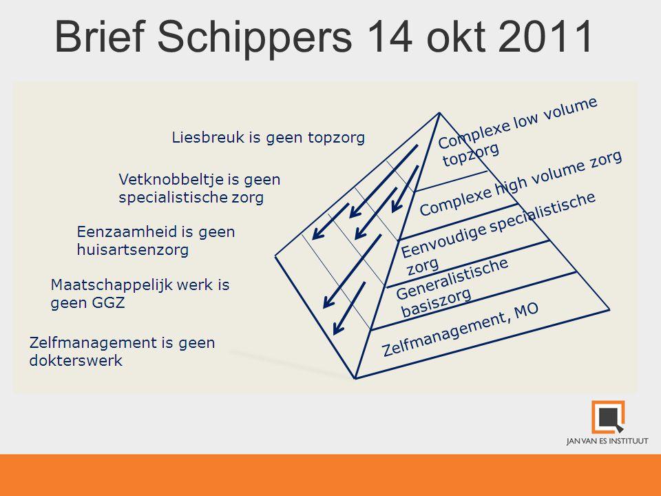 Brief Schippers 14 okt 2011 Echter wel VVD/CDA: