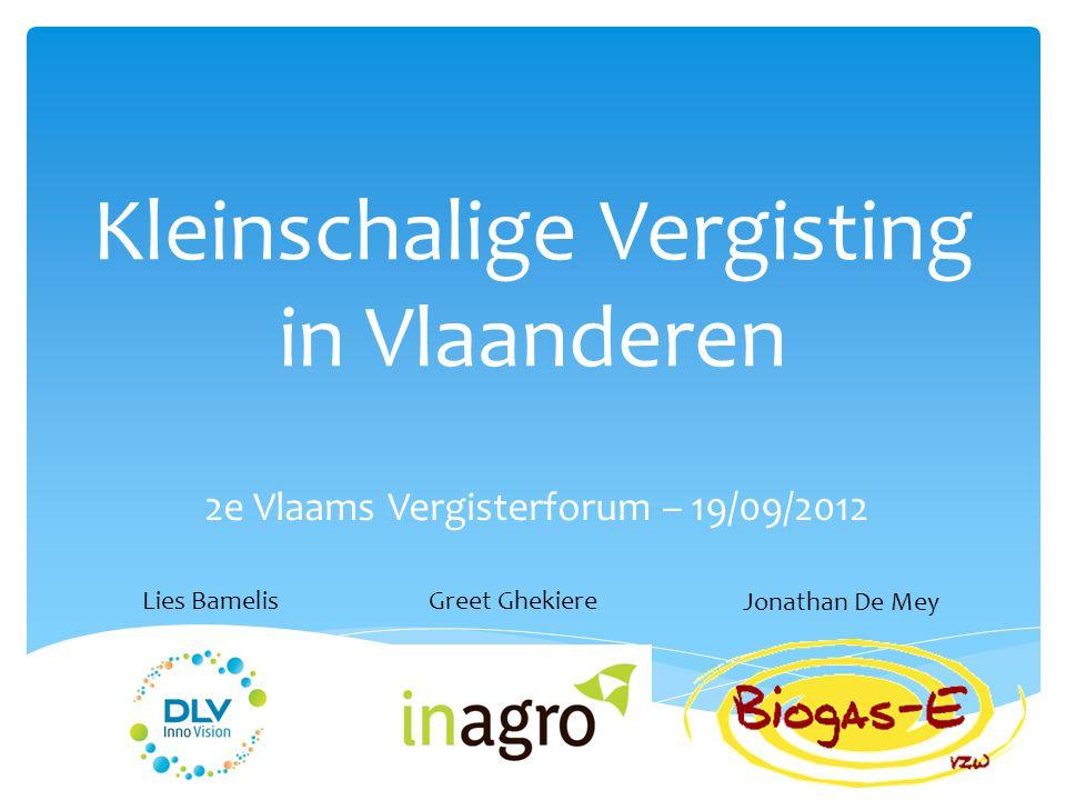 Kleinschalige Vergisting in Vlaanderen