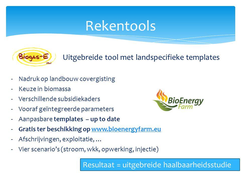 Rekentools Uitgebreide tool met landspecifieke templates