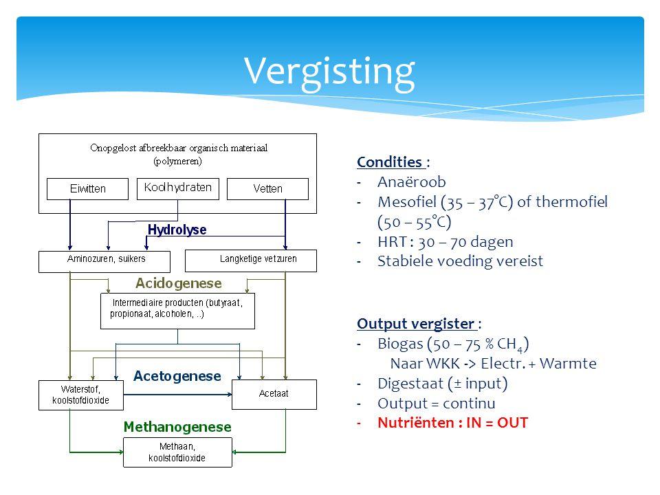 Vergisting Condities : Anaëroob