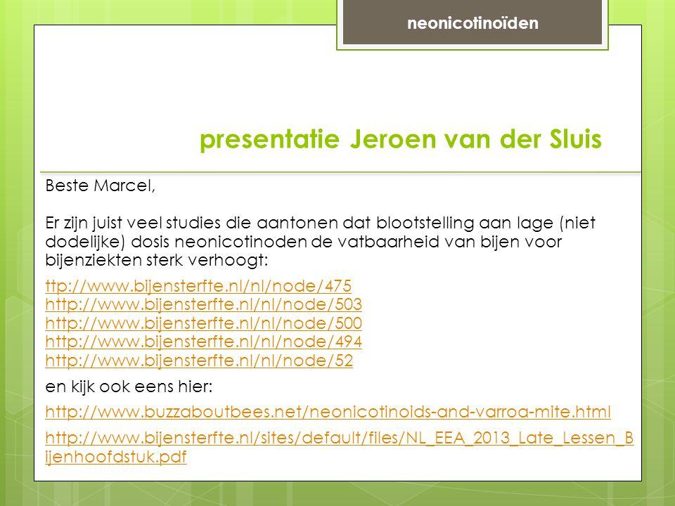 presentatie Jeroen van der Sluis
