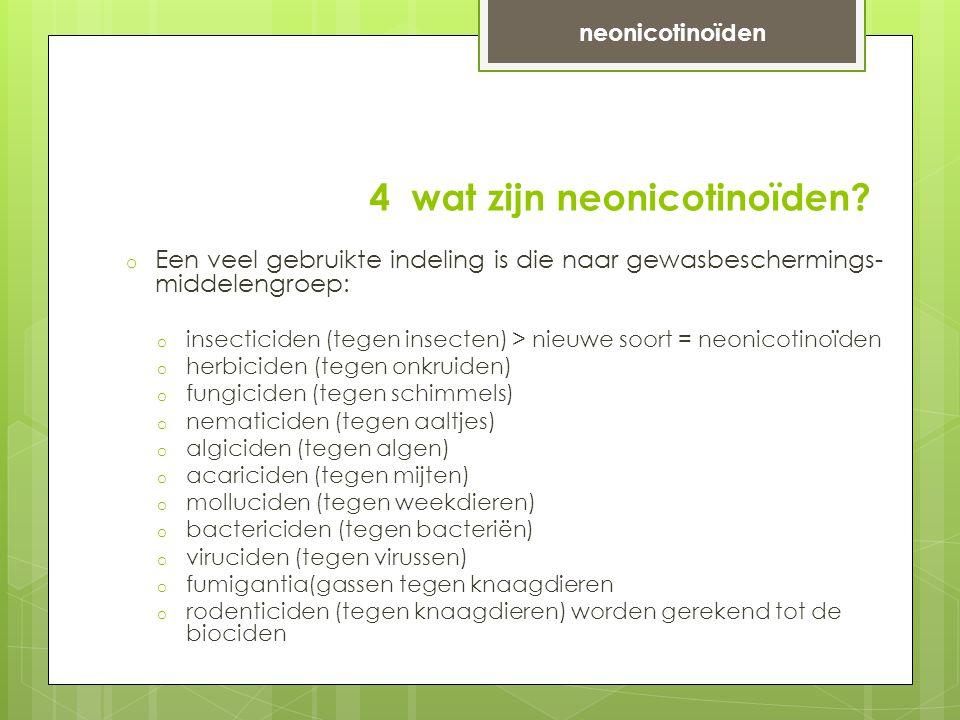4 wat zijn neonicotinoïden