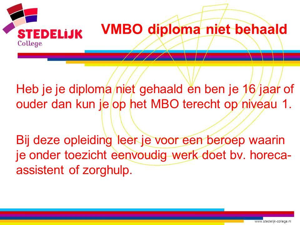 VMBO diploma niet behaald