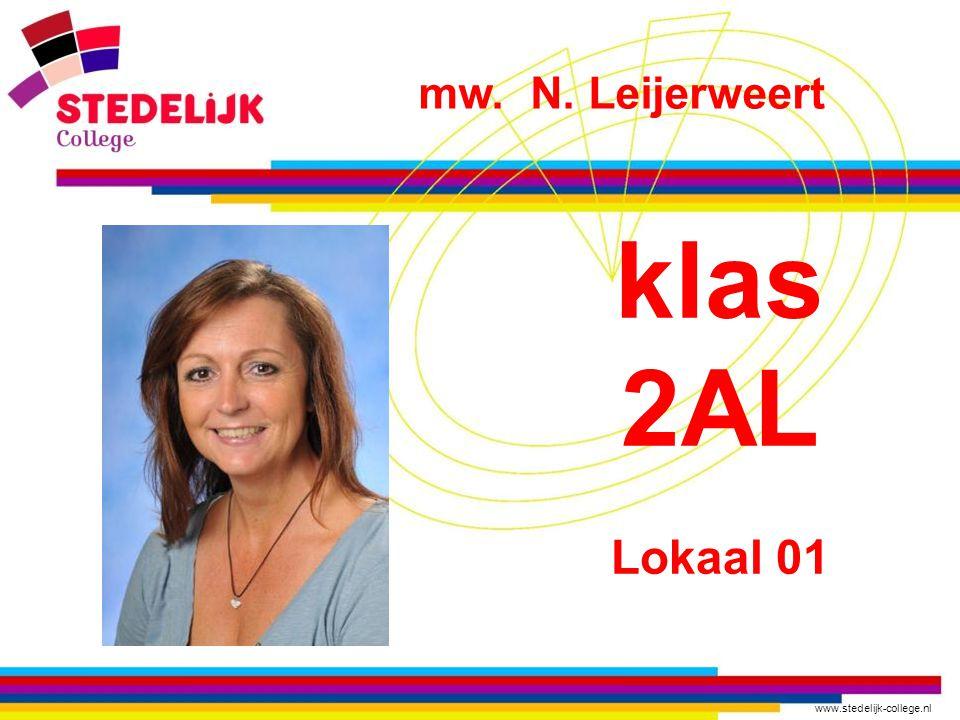 mw. N. Leijerweert klas 2AL Lokaal 01
