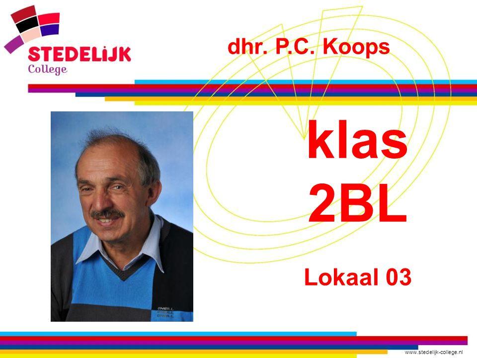 dhr. P.C. Koops klas 2BL Lokaal 03