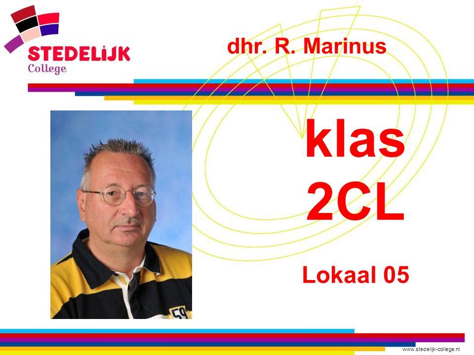 dhr. R. Marinus klas 2CL Lokaal 05