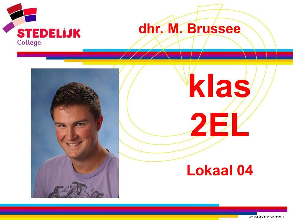 dhr. M. Brussee klas 2EL Lokaal 04