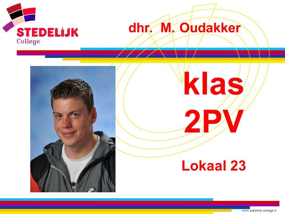 dhr. M. Oudakker klas 2PV Lokaal 23