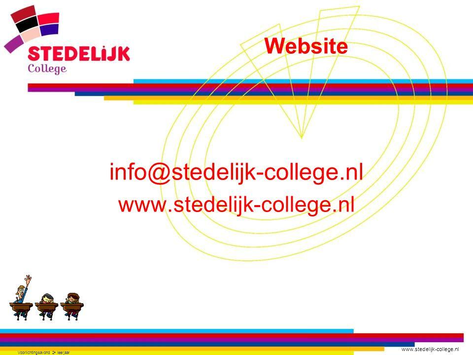 info@stedelijk-college.nl www.stedelijk-college.nl