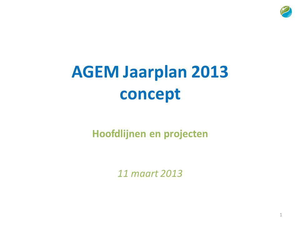 Hoofdlijnen en projecten 11 maart 2013