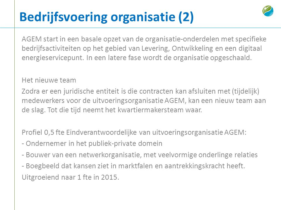 Bedrijfsvoering organisatie (2)