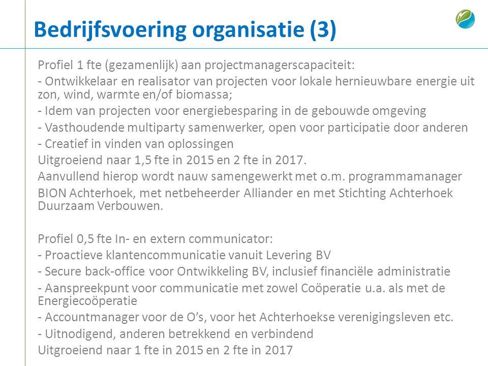 Bedrijfsvoering organisatie (3)