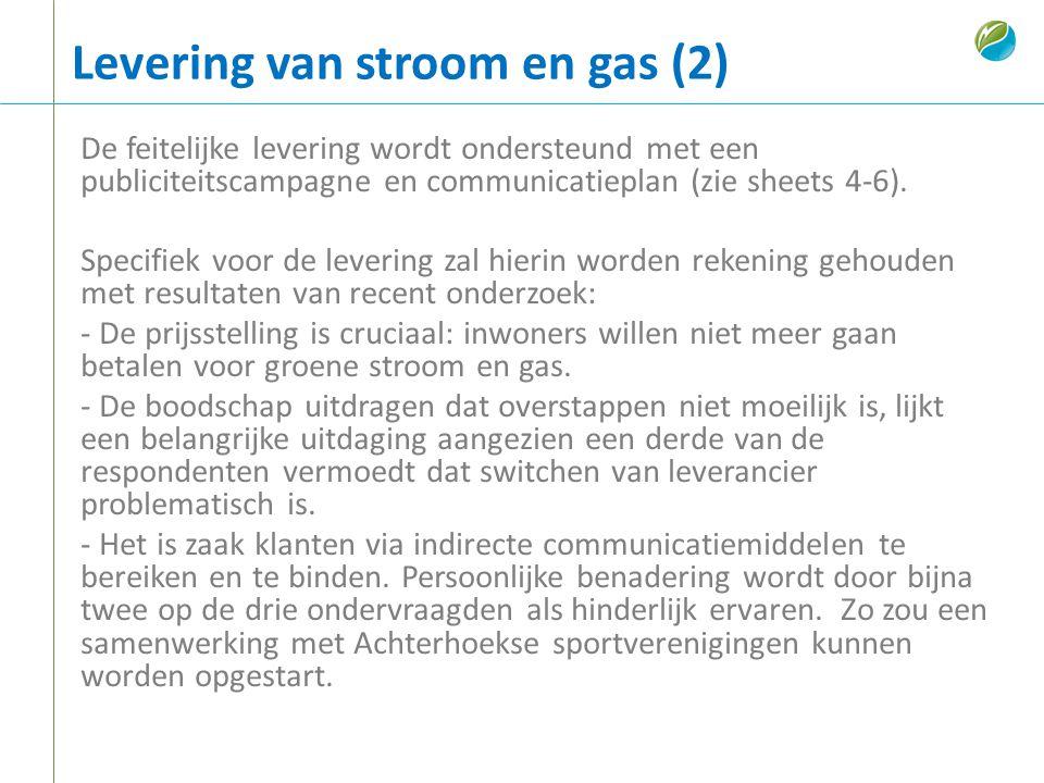 Levering van stroom en gas (2)