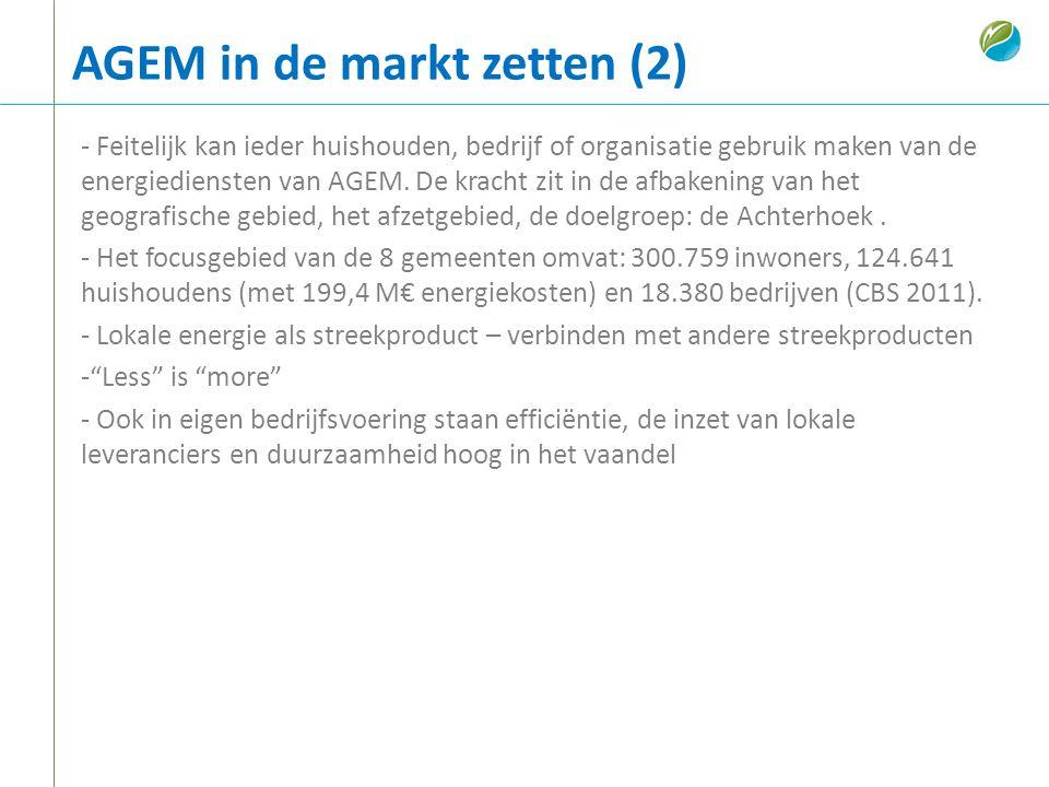 AGEM in de markt zetten (2)