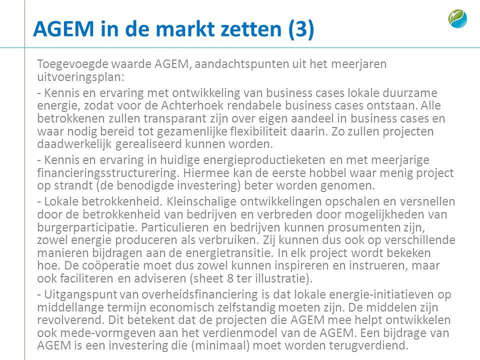 AGEM in de markt zetten (3)