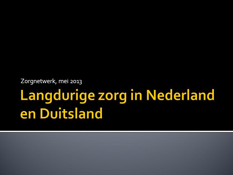 Langdurige zorg in Nederland en Duitsland