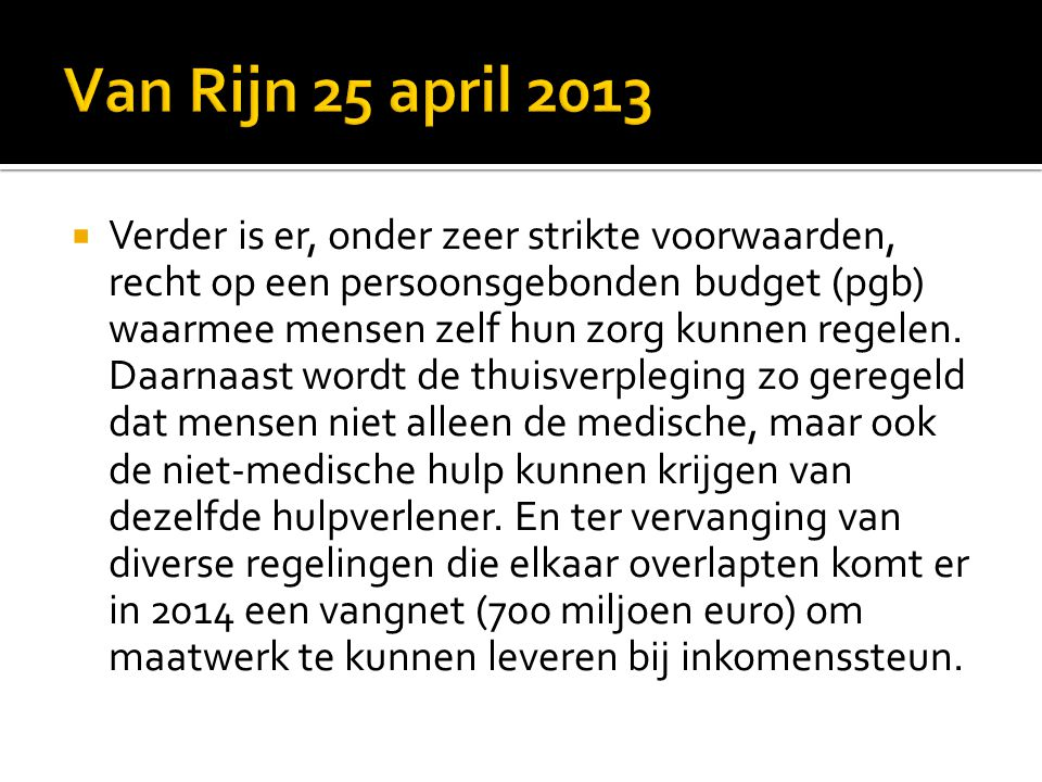 Van Rijn 25 april 2013