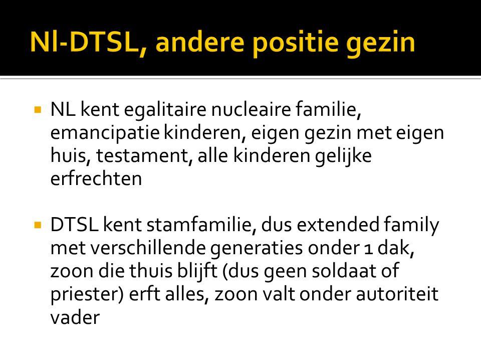 Nl-DTSL, andere positie gezin