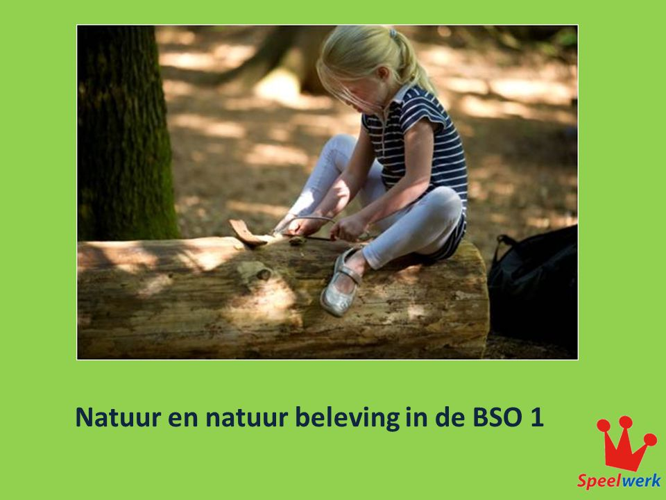 Natuur en natuur beleving in de BSO 1
