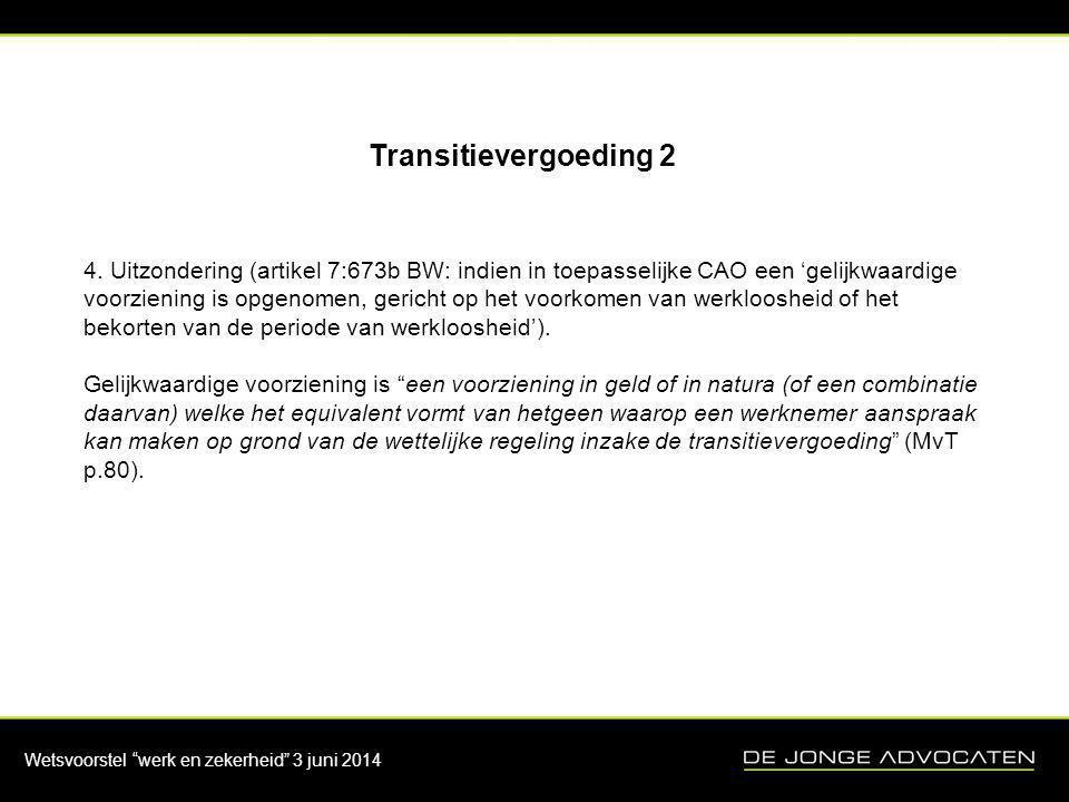 Transitievergoeding 2