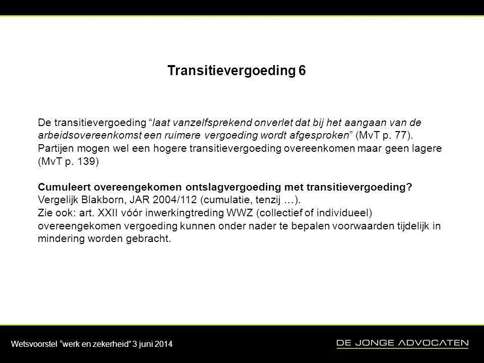 Transitievergoeding 6