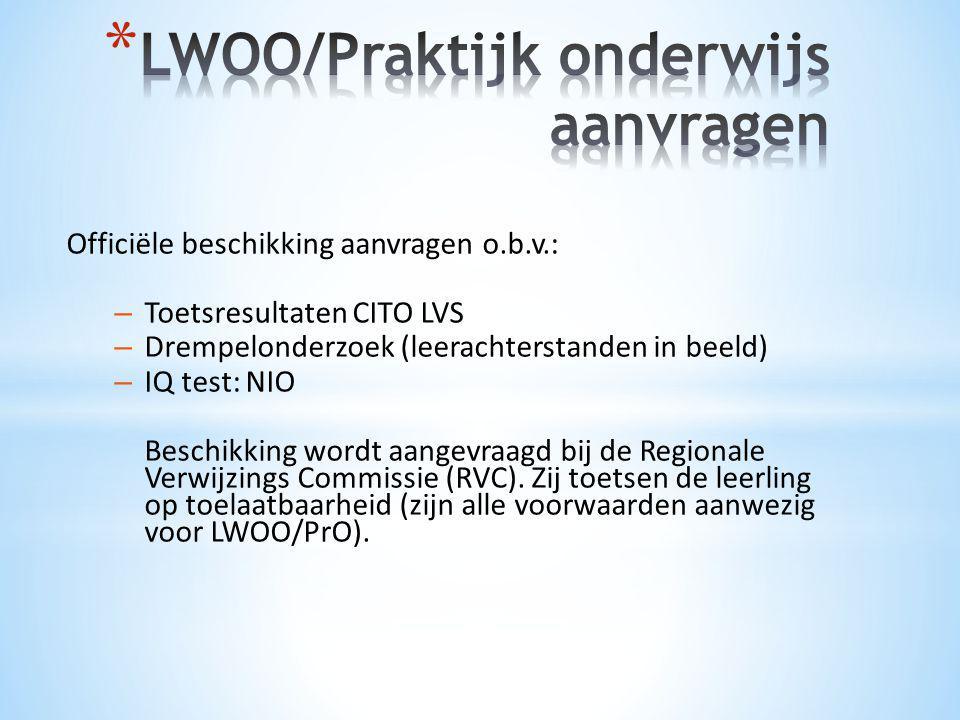 LWOO/Praktijk onderwijs aanvragen