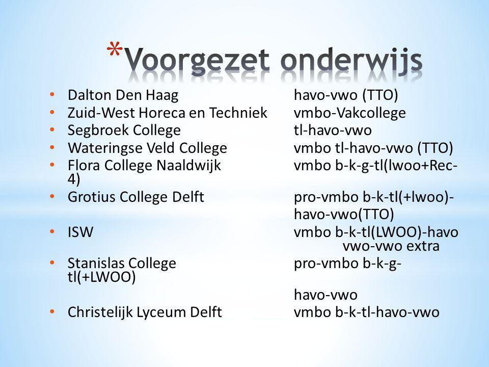 Voorgezet onderwijs Dalton Den Haag havo-vwo (TTO)